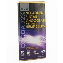 Hanf Schokolade zuckerfrei vegan kaufen und Süßes naschen